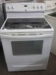 kenmore stove top. glass top electric range kenmore 5 burner white stove l