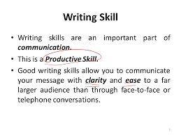 lecture writing skills ppt video online  3 writing skill