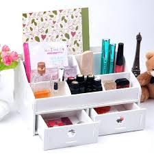 makeup storage desk white wooden box wash gargle bathroom shelf storage box toilet dresser drawers makeup