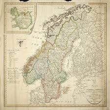 Norway Nautical Charts Download 1809 Map Of The Scandinavian Peninsula Free To Download