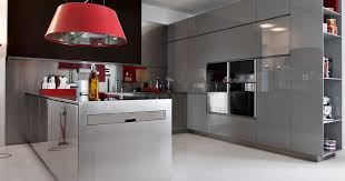 kitchen designs red kitchen furniture modern kitchen. Enchanted Modern Kitchen In White : Grey With Red Pops Designs Furniture
