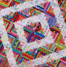 Log Cabin Quilt Pattern 12 Inch Block Inspiration Red Pepper Quilts Step Back In Time