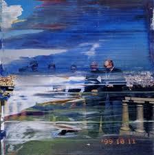 gerhard richter abstract paint brushstrokes on photos
