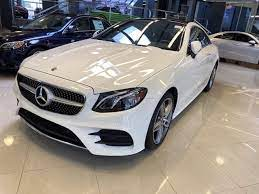 We couldn't have been happier. New 2020 Mercedes Benz E 450 4matic Coupe Polar White 20 1891