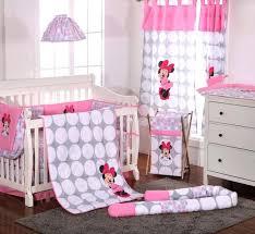 baby nursery baby minnie mouse nursery polka dots 4 piece crib bedding set photo 6