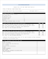 Sample Expense Sheets Sample Expense Sheet 11 Examples In Pdf Excel