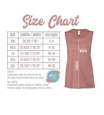 Bella Canvas Muscle Tank Size Chart Bella Canvas 6003 Size Chart Womens Muscle Shirt Size Chart Muscle Tank Bella Canvas 6003