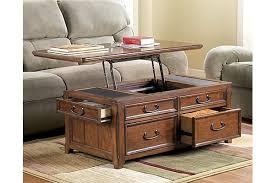 ashley furniture coffee table trunk