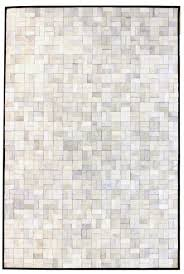bloc white grey modern leather area rug jpg