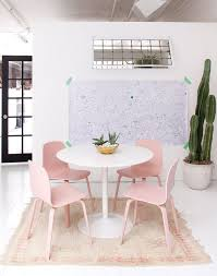 domino on pink chairshome designkitchen diningdining tabledining