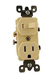 cheap switch receptacle switch receptacle deals on line at leviton 5225 15 amp 120 volt duplex style combination single pole switch receptacle