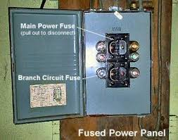 how to safely turn off power at the electrical panel fused power panels be found in older installations
