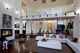 Open Plan Living Room with High Ceiling