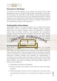 business plan sample on furniture human resource