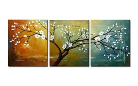 wieco art full blossom hand painted modern framed floral oil paintings on canvas wall art on modern framed wall pictures with wieco art full blossom hand painted modern framed floral oil