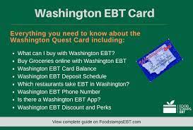 washington ebt card 2021 guide food