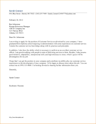 customer service cover letter customer service representative cover letter examples