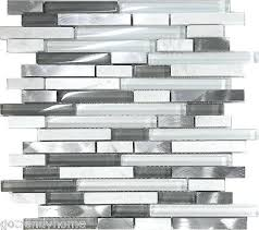 linear glass mosaic tile white glass natural stone metal linear glass mosaic tile kitchen eclipse eternity
