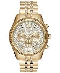 michael kors michael kors macy s michael kors men s chronograph lexington gold tone stainless steel bracelet watch 44mm mk8579
