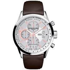 buy a raymond weil swiss watch online fraser hart raymond weil lancer men s automatic brown leather strap watch
