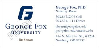 Order Business Cards George Fox University