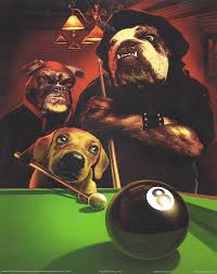com 8x10 poster print dogs playing pool eight ball by gerard taylor vintage posters prints