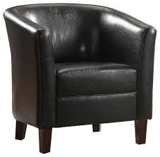 classic modern accent chair comfort seating round high back black faux leather armchairs and accent chairs by 1perfectchoice