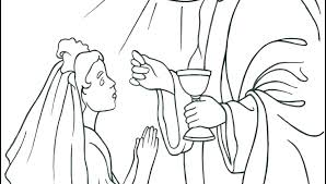 Free Printable Communion Coloring Pages First As Well Colouring