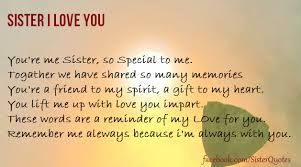 I Love You Sister Quotes Adorable Sister Quotes Quotesnice