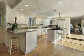 Solid Wood Floor In Kitchen Contemporary Dark Brown Mahogany Wood Floor In Kitchen Solid Wood