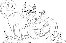 Small Picture Halloween Cat Coloring Pages Archives Gallery Coloring Page
