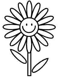 Small Picture Daisy Flower Coloring Pages For Kids Flower Coloring pages of