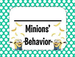 Minion Behavior Chart Minion Behavior Clip Chart