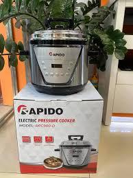 nồi áp suất nhỏ nấu cháo cho bénồi áp suất điện tốtNồi áp suất điện đa năng  Rapido RPC900-D hầm xương mấu cháo siêu nhanh tiết kiệm điện năng Hàng  chính hãng