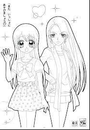 Anime Coloring Page Of Anime Coloring Page For Our Family Cute Chibi