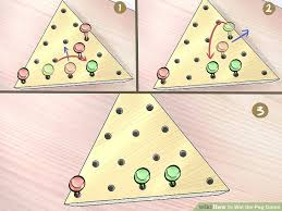 Wooden Triangle Peg Game How to Win the Peg Game 100 Steps with Pictures wikiHow 5