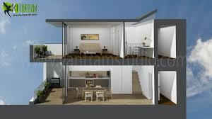 modern 3d home section floor plan residential design yantram