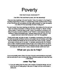 poverty essay the writing center poverty essay