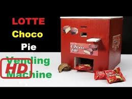 Pie Vending Machine Interesting How To Make Lotte Choco Pie Vending Machine Allblues YouTube