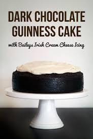 Dark Chocolate Guinness Cake With Baileys Cream Cheese Icing Love Swah