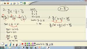 elementary algebra solving linear equations involving fractions and decimals classifying equations