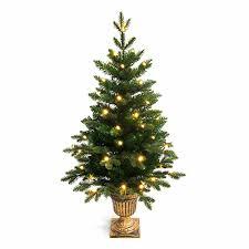 Festive Lights 4ft Potted Pre-Lit PE Artificial Christmas Tree
