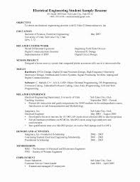 Electrical Engineer Resume Sample Electrical Engineer Resume Elegant 60 Beautiful Electrical Project 15