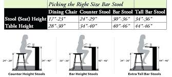 stool height for 36 inch counter amazing of counter stool height bar stool ers guide finding