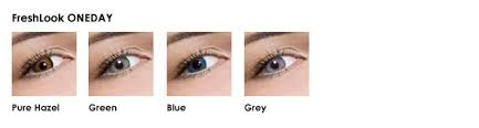 Freshlook Colorblends Toric Color Chart Freshlook Colored Lenses Color Examples