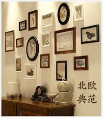 16 pieces set vintage wall wooden photo frames set for living room family picture frame sets
