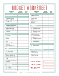 Family Budget Worksheet Worksheets For All Download And Share