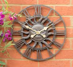 decorative garden sun clock in a copper finish 38cm 15 by about time