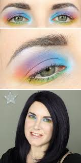 i ve got a fun kat von d pastel goth rainbow makeup tutorial for you