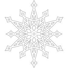 Frozen Snowflakes Designs Snowflake Template Clipart Printable For